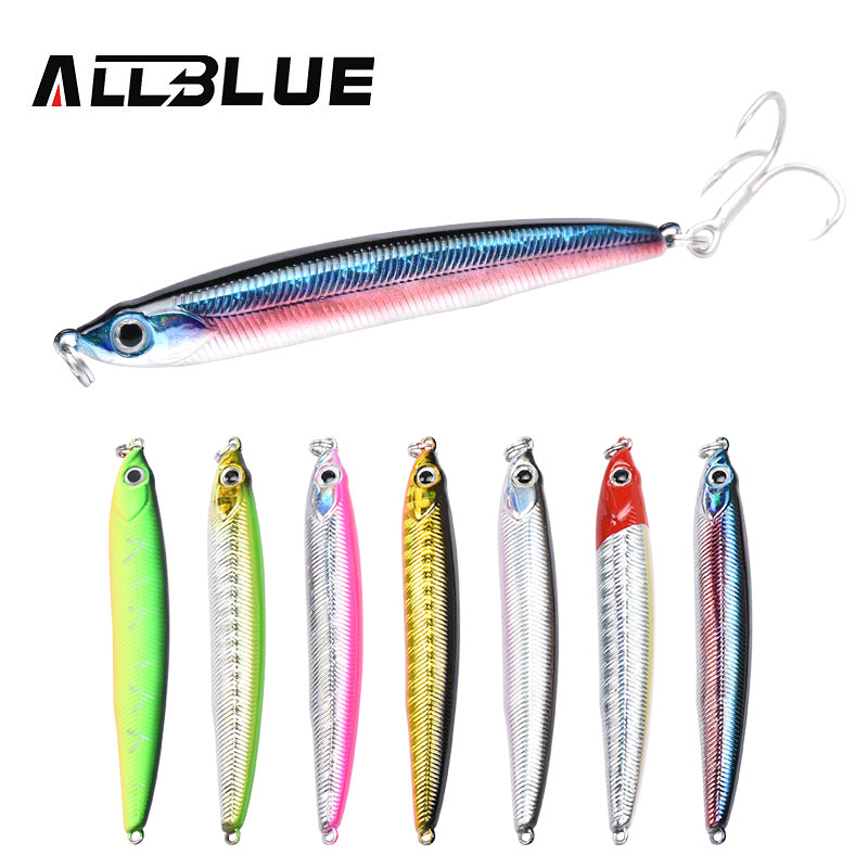 ALLBLUE 2018 New Jigging Stick Fishing Lure Sinking Pencil Longcast 8.8g/70mm Shad Minnow 3D Eye Artificial Bait Bass Pike Lures nils master baby shad 5cm vertical jigging ice fishing lures