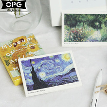 1 Pcs/set Cute Van Gogh Notebook Check List Post it School Stationery Sticky Message Sticky Notes Planner Writing Memo Pads