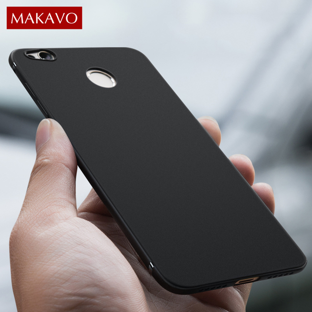 meet cee9b 3395f US $4.27 |MAKAVO For Xiaomi Redmi 4X Case Full Protection Soft Silicone  Housing Matte Phone Cases For Redmi 4X Pro Prime Cover -in Fitted Cases  from ...