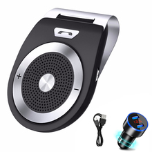 Stereo Bluetooth Car Kit Handsfree Wireless Receiver MP3 Player Clip Sun Visor Speakerphone car accessories
