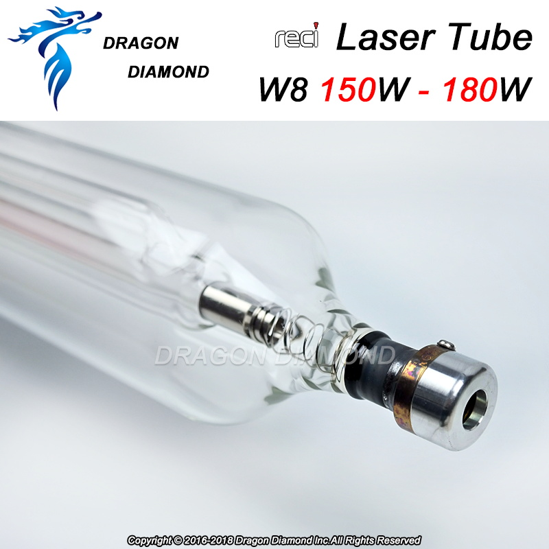 Reci W8 150W to 180W CO2 Laser Tube for CO2 Laser Machine Upgrade S8 Z8 Length 1850 Dia. 90mm Wooden Case Box Packing 150w co2 laser tube 1800mm with wooden case 10 months warranty laser machine parts