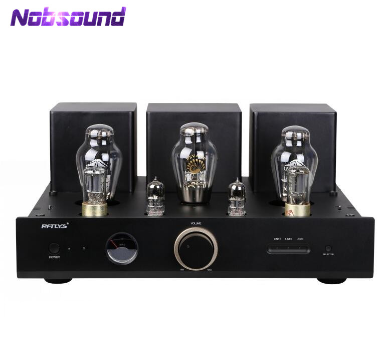 цена на Nobsound Hi-end 300B Vacuum Tube Amplifier HiFi Single-Ended Class A Integrated Power Amp Black