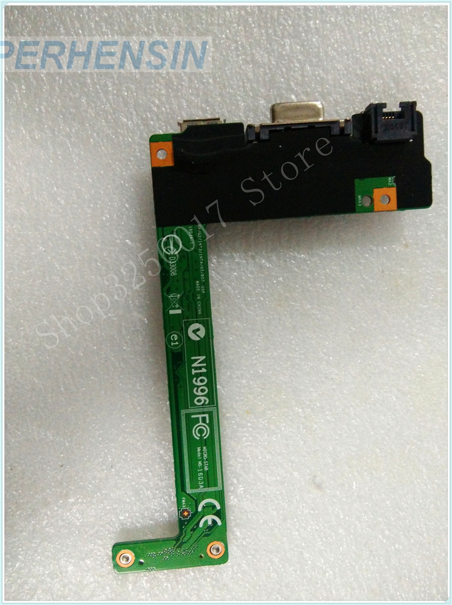 Original Genuine laptop FOR MSI FOR S6000 P600 MS-16D31 USB WLAN VGA BOARD MS-16D3 MS-16D3A genuine laptop for msi for ms 13581 ms 1358 sd reader usb vga board ms 1358b