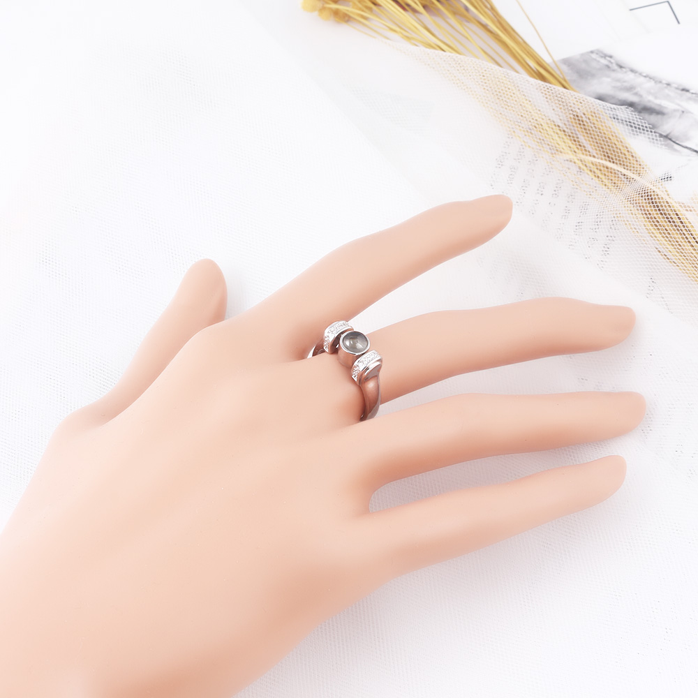 NEW 100 Languages I Love You Projection Ring high quality Rose gold silver Rings Valentine Day gift Accessories Woman jewelry in Rings from Jewelry Accessories