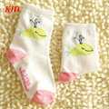Brand Quality Girls Socks Cartoon Whale Socks Kids Calcetines White Pink Baby Girl Socks KD425