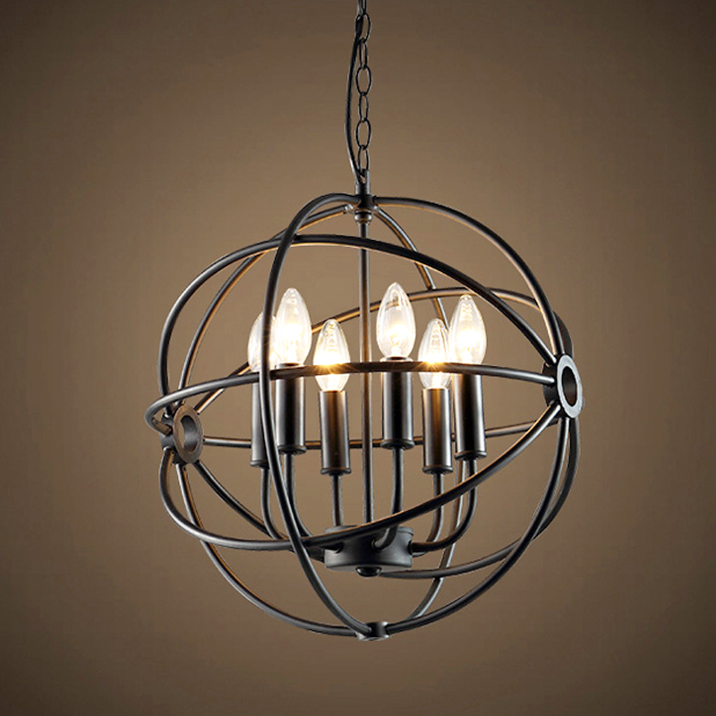 loft American style retro nordic vintage Pendant Light iron industrial hanging lamp living room dining room light fixture lamp стоимость