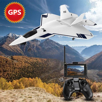 2019 GPS FPV Remote Control Aircraft F22 Fixed High Key Return Function Built In 720P Camera One Key Take off Landing RC Plane