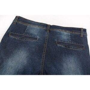 Image 4 - Enjeolon brand men denim jeans 긴 trousers men jeans pants 면 망 jeans pants 수컷 denim 인과 진 옷 K6003