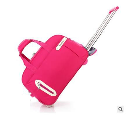 Nylon Travel Trolley Luggage Bag wheeled Bag Women Rolling Trolley bags Business Travel Bags For men luggage suitcase on wheels стоимость