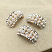 10pcs lot Craft Pearl Crystal Rhinestone Buttons Flower Round Cluster  Flatback Wedding Embellishment Jewelry Craft( ea580cb83f42