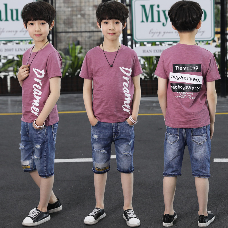 Summer Children Clothing Set Kids Clothes Navy Short Sleeve Pullover And Pants Sports Suit Hot Sale New 2018 Casual Boys Clothes big kids teen boys casual sport suit clothing set summer letters print short sleeve children s boy clothes t shirt short pants