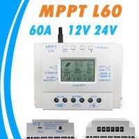 Controlador de carga de batería Solar 60A LCD 12V 24V Auto con USB 5V 1500mA regulador Solar de alta eficiencia sistema de seguimiento Solar