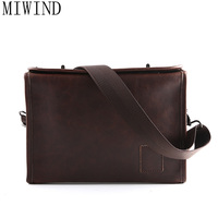 MIWIND Business Handbag Men Bag Men's Leather Bag Vintage Clutch Men Messenger Bags Shoulder Crossbody Bags Briefcase TYZ980