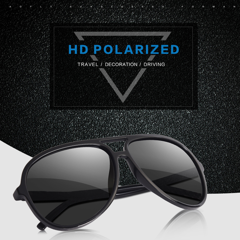 7dc56360d70 ... AOFLY BRAND DESIGN Ultralight TR90 Pilot Sunglasses Men Polarized  Driving Sun glasses Male Outdoor sports Goggles UV400 AF8080. -52%. Click  to enlarge