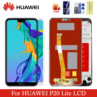 Original huawei p20 lite lcd with frame display digitizer assembly replacement screen for p 20 lite ANE LX1 ANE LX3 Nova 3e LCD
