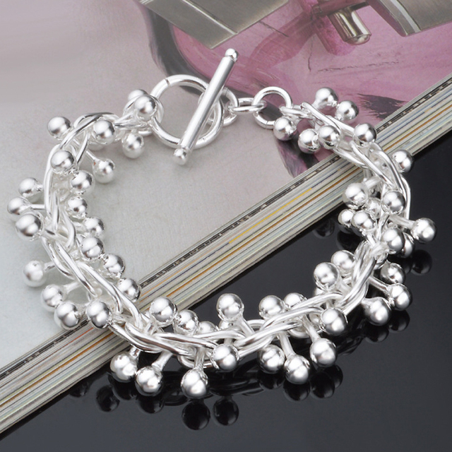 Silver Plating Fidget Bracelet Hand Stress Relief Toy Autism Adhd