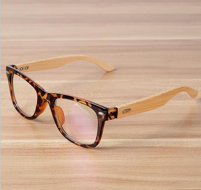 e7ac227058 Nueva lente transparente gafas pulido a mano Templo de bambú colorido marco  miopía anteojos recetados