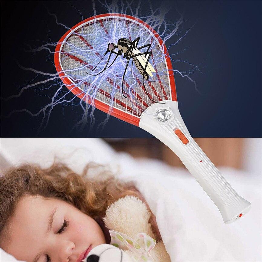 충전식 LED 전기 비행 모기 찰싹 때림 버그 재빠른 라켓 곤충 킬러 홈 수면 아기 Dropshipping|방충제| - AliExpress