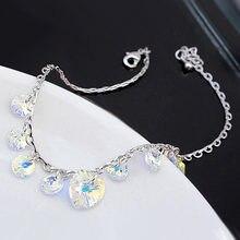 Роскошные браслеты с подвесками в форме сердца Сваровски женский
