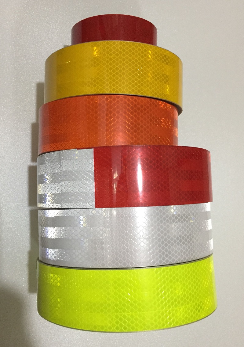 5CM*45M High Light Road Traffic Truck Van Construction Site Floor Self-adhesive Night Fluorescent Reflective Warning Tape