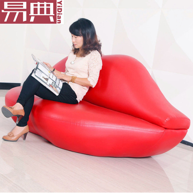 Lips, Red Lips Sofa Leather Sofa Sofa Sofa Shop Beauty Salon Sofa Couch  Creative Designer