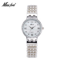 Women Watches Pearl Shell Design Bracelet Elegant Jewelry Quartz Wrist Silver Gold Watches Ladies Top Brand Female Dress Clock(China)