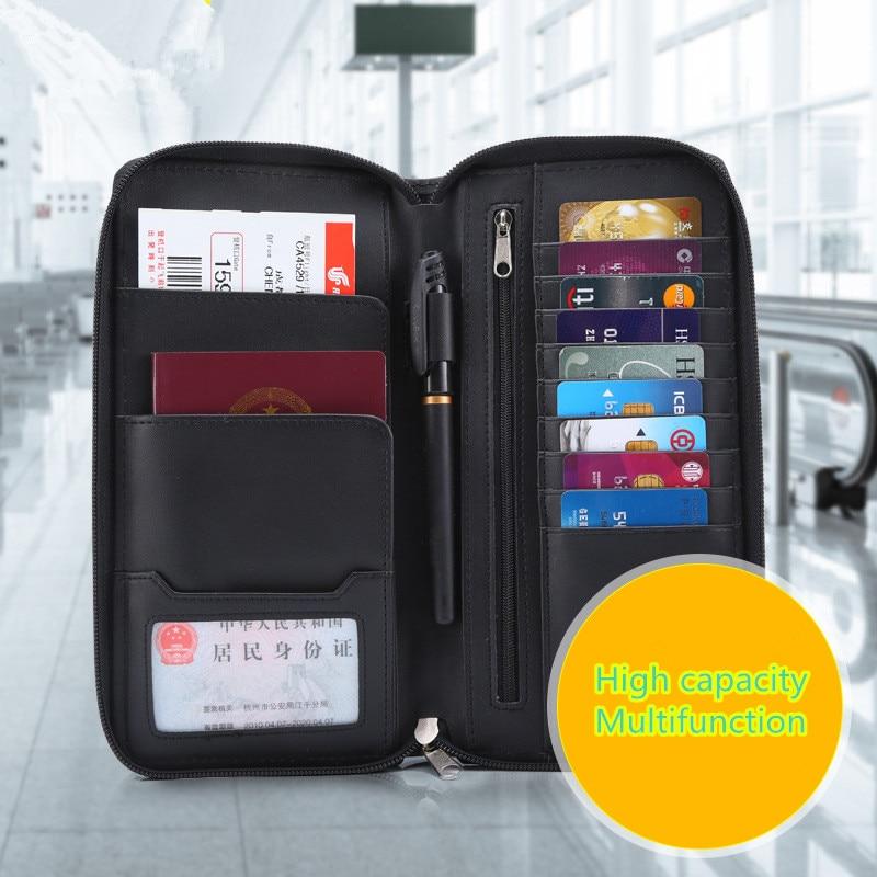 Card & Id Halter Die Neue Multifunktions-pass Paket Flugtickets Passinhabers Pu Mehrzweck Dokumentenpaket Dropship Strukturelle Behinderungen