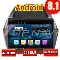 Car PC GPS Navigation Android 8.1 for Hyundai ix35 2010 10.1'' Topnavi Android Big Screen Auto Multimedia NO DVD Double Din MP3