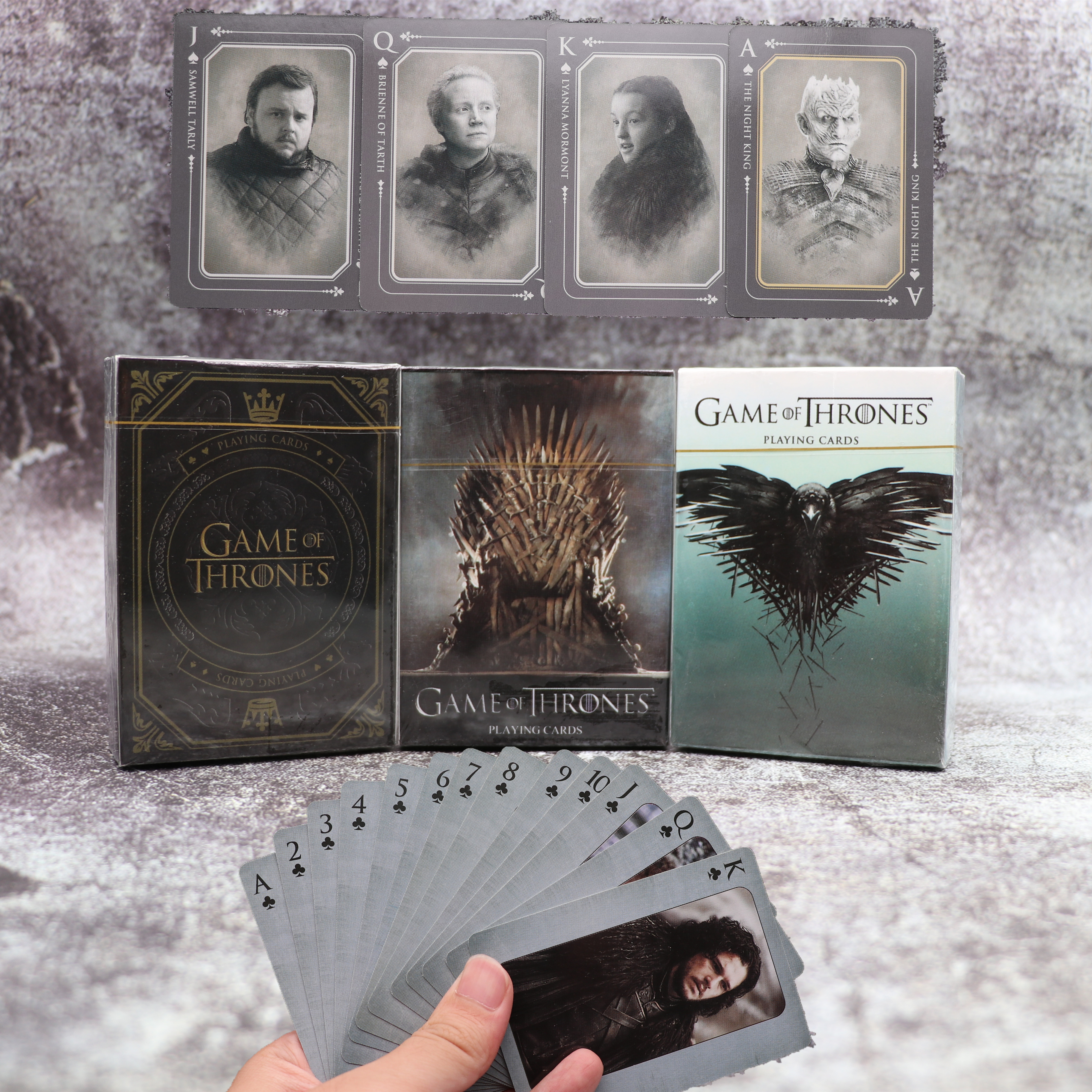 Movie Game of Thrones Cosplay Props Stark Jon Snow Daenerys Targaryen Dany Dragon Mother Playing Cards Board Game Collect Gift(China)