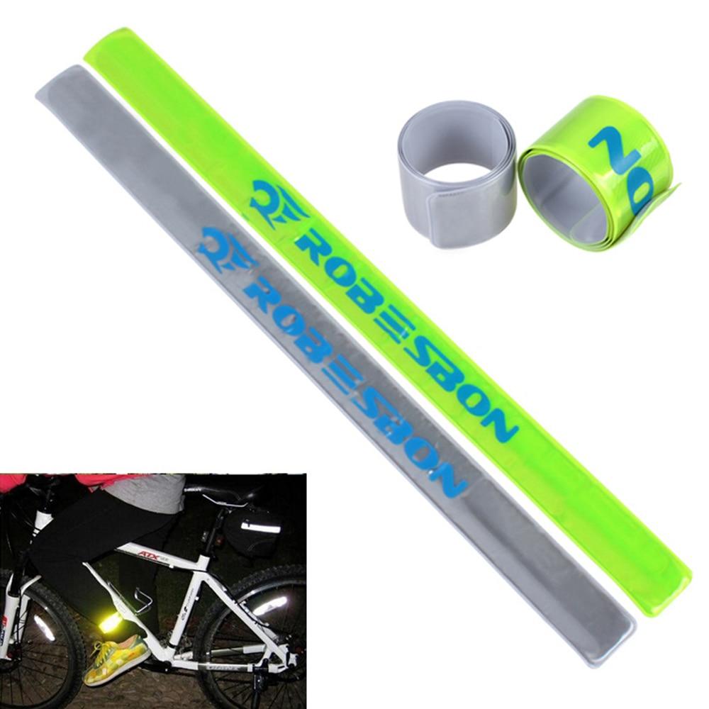 Cyklistický chladný reflexní pásek pro kalhotové bundy Cyklistika Bike zápěstí popruh Fluorescenční pásek pro noční jízdu
