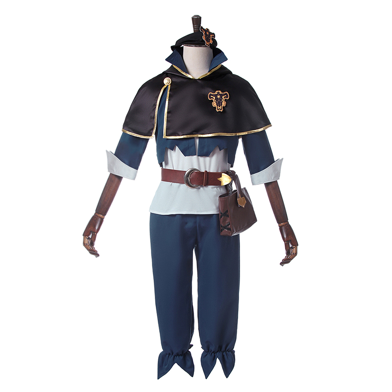 Black Clover Cosplay Costume Asta Cosplay Costume Outfit Ver.2 Halloween Carnival Cosplay Costume halloween cosplay skeleton style costume black