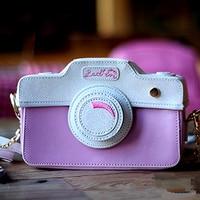 2017 unique fashion personality cute pink bling bling mini camera shape flap ladies handbag shoulder bag messenger bag purse