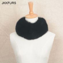 JKKFURS Magnetic 2019 Real Fox Fur Collar Women Fashion Style Top Quality Warm Scarf Autumn Winter S1639