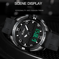 Men Military Watch Waterproof Wristwatch LED Quartz Clock Fashion Sport Watch Male relogio masculino S Shock Watch Men 2019 New