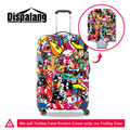 Dispalang Graffiti Waterproof Luggage Protective Cover For 18-30 Inch Trolley Case Dust Rain Suitcase Cover Travel Accessories