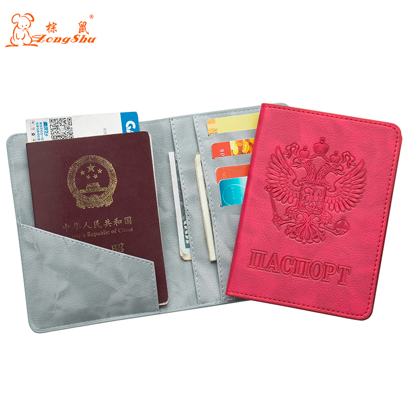 Back To Search Resultsluggage & Bags Learned Russian Pu Leather Passport Cover Fashion Colourful Travel Passport Cover Built In Rfid Blocking Protect Personal Information Coin Purses & Holders