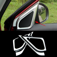 2016 New Car Styling 2PCS SET ABS Car Front Door Internal The Triangle Chromium Plating Sequins
