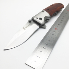 BMT Brown DA51 DA43 217 Tactical Folding Blade Knife 5Cr18Mov Blade Rosewood Handle Survival Knife Outdoor Camping Knife Tools
