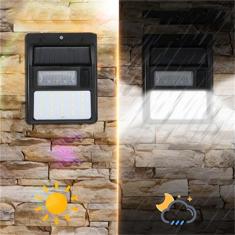 Mising Solar Power LED Solar Light Outdoor Wall LED Solar Lamp With PIR Motion Sensor Night Security Street Yard Garden Lamp