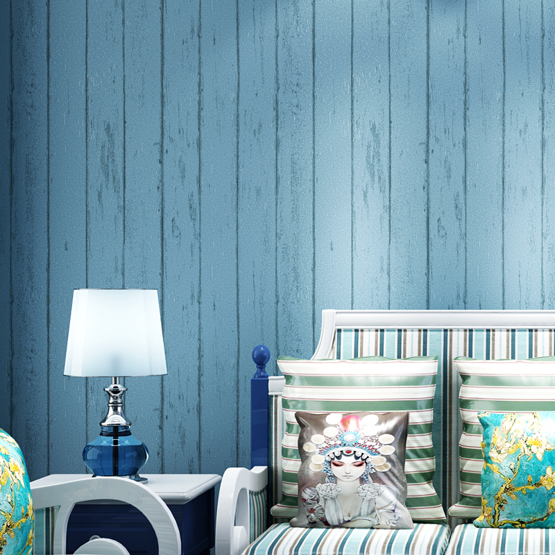 beibehang Mediterranean style wood wallpaper living room wallpaper backdrop papel de parede para quarto wallpaper for walls 3 d junran america style vintage nostalgic wood grain photo pictures wallpaper in special words digit wallpaper for living room