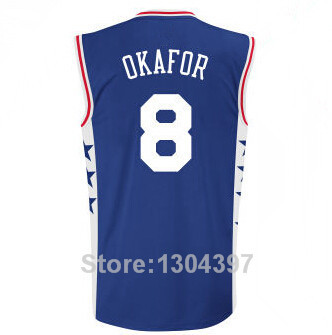 bdc8f9b8f9e New Philadelphia 8 Jahlil Okafor Basketball Jerseys 2015 Draft Pick Jahlil  Okafor Duke