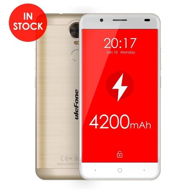 Ulefone Tiger Smartphone 4200mah MTK6737 Quad core Android 6.0 Cellphone 5.5Inch 2G RAM 16G ROM Fingerprint 4G LTE Mobile Phone