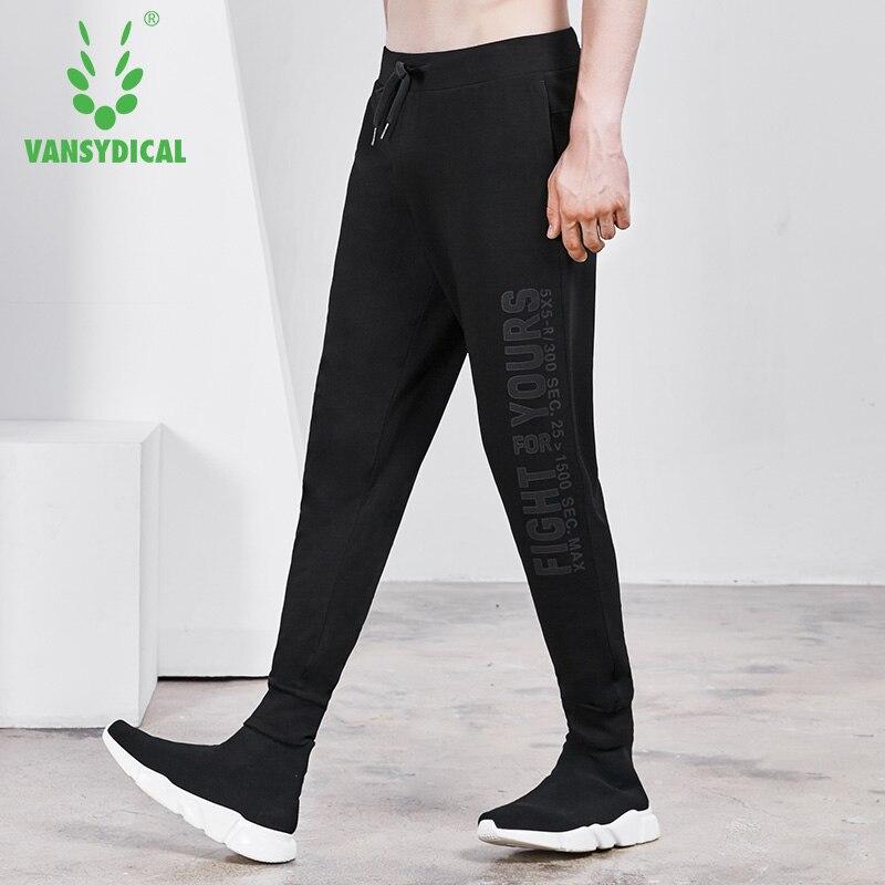 Vansydical Gym pantalons de survêtement hommes sport pantalons de course imprimé lettres automne hiver en plein air entraînement pantalon de Jogging homme