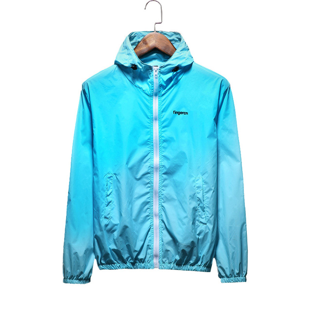 Fashion Couple Clothes Jacket Solid Thin High Quality Sportswear Windbreaker Hooded Cardigans Coat Waterproof Casual Jacket
