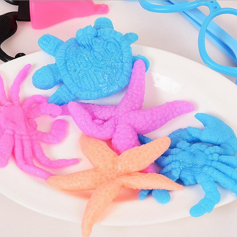 bb4d2ccb3 Mágico Océano bebés niños Juguetes creciente Bolas de agua para fishbowl  decoración hidrogel Starfish forma agua Cuentas 30 unids en Suelo de cristal  de ...
