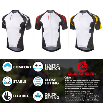 Queshark Summer Cycling Jersey Breathale Mountain Bike Clothing Quick-Dry Racing MTB Bicycle Clothes Uniform Cycling Suit Set 7