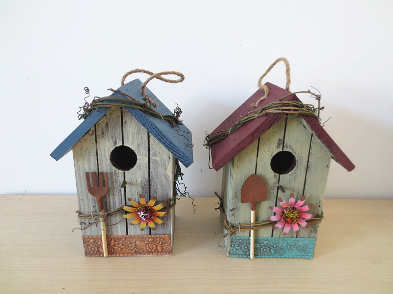 Wooden Bird House Wood Bird Nest Garden Decoration Bird Cage Garden  Ornaments Home Decoretion Spring Decor Spring Products In Bird Cages U0026  Nests From Home ...