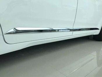Détecteur de style de voiture ABS chrome couvercle de la porte latérale garniture bâtons bandes moulage 4 pièces pour Toyota Sienna 2015