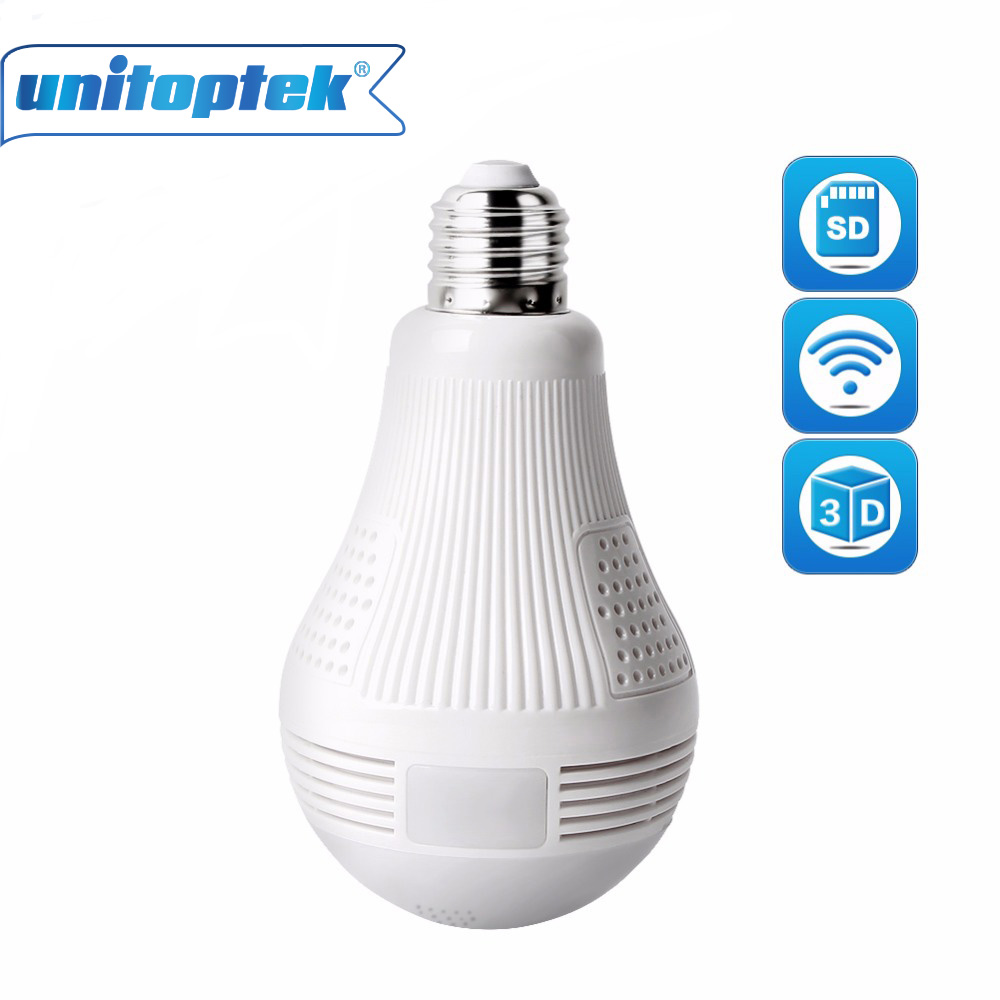 Security 960P Fisheye Panoramic WIFI Wireless P2P Network IP Camera LED Bulb Light Home Security System For IOS Android erasmart hd 960p p2p network wireless 360 panoramic fisheye digital zoom camera white