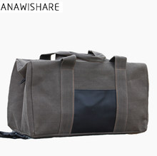 ANAWISHARE Men Travel Bags Large Capacity Canvas Travel Duffle Bags Women Luggage Folding Bags Travel Handbag(China)